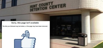Hunt County Sheriff's Department Shuts Down Facebook Page