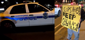 Connecticut Cop Threatens Activist with Arrest for Warning Motorists of DUI Checkpoint